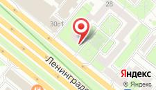 Мини-отель Ленинградский 28 на карте