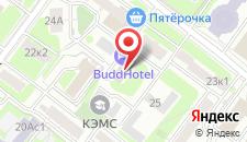 Гостиница БуддОтель Москва на карте