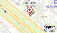 Хостел Ленинградский проспект на карте