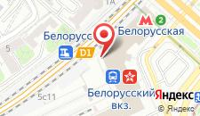 Хостел На Белорусском на карте