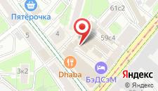 Хостел Заходи на Белорусской на карте