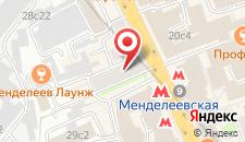 Хостел Landmark на Новослободской на карте