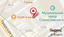 Отель Инга Хотелс Москва на карте
