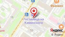 Гостиница На Каминского на карте