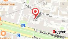 Отель На Цветном Бульваре на карте