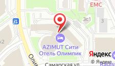 Отель АЗИМУТ Отель Москва Олимпик на карте