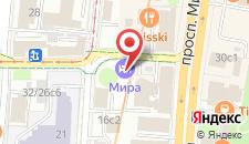 Отель МИРА на карте