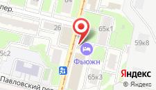 Хостел Фьюжн на карте