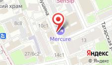 Отель Ибис Москва Центр Бахрушина на карте