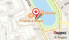 Хостел На Чистопрудном бульваре на карте