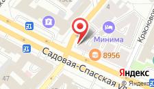 Апартаменты Апельсин на Садовом на карте