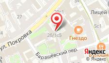 Гостиница Бентлей на карте