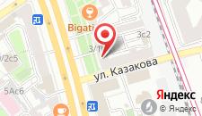 Хостел на Курской на карте