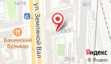 Хостел МХ Земляной вал на карте