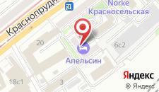 Гостиница Апельсин на Комсомольской на карте