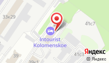 Гостиница Интурист Коломенское на карте