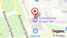 Гостиница Кузьминки на карте