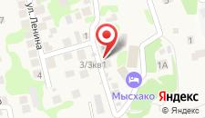 Загородный отель Мысхако на карте