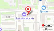Гостиница Измайловский на карте