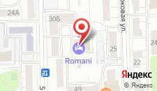 Отель Romani на карте