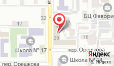 Отель Ева на карте