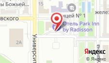 Отель Park Inn by Radisson Donetsk на карте