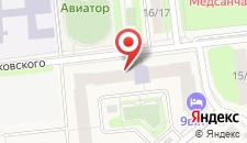 Отель Авиации Домодедово на карте