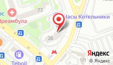 Гостиница Авиатор на карте