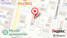 Гостиница Милютинский на карте