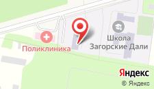 Санаторий Загорские дали на карте