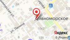 Гостиница Афина на карте