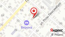 Отель Верона на карте