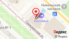Отель Коломна на карте