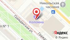 Гостиница Коломна на карте
