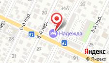 Гостиница-Хостел Надежда на карте