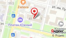 Гостиница Платан на карте