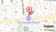 Гостиница Прага на карте