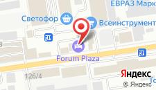 Отель Форум на карте