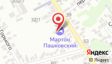 Гостиница Мартон Пашковский на карте