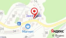 Отель Звездный на карте