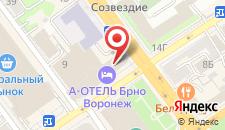 Гостиница А Отель БРНО на карте