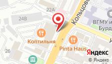 Гостиница Агат на Кольцовской на карте