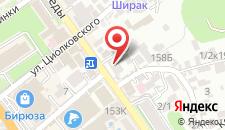 Отель Лиана на карте