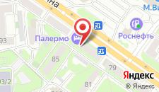 Гостиница Палермо на карте