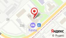 Гостиница Феста на карте