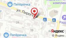 Отель Радужный на карте