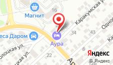 Гостиница Аура на карте