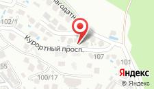 Апартаменты На Благодатной на карте
