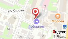 Гостиница Губерния на карте