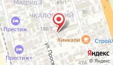 Гостевой дом Тетис на карте